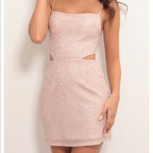 Lucy in the Sky Rose Gold Cutout Dress
